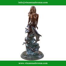 Chinese brand famous brass little mermaid of denmark