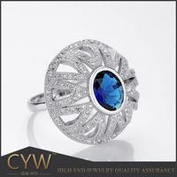 China proveedor de joyeria de alta calidad anillos de plata de ley 925 jewellery manufacturer wholesale
