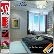AS2047 standard aluminium double sliding windows with mosquito screen