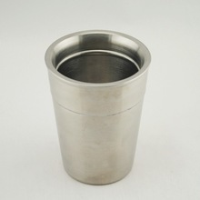 350ml High Quality Elegant Double Wall Stainless Steel Coffee Cup