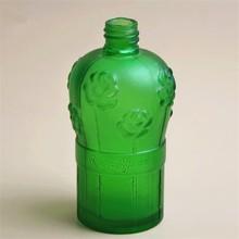 USA women's love carving flower glass perfume bottles green glass perfume bottle
