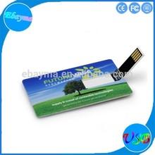 Ultra thin card shaped flash disk business credit card usb flash drive