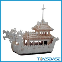 Custom DIY puzzle 3d Wooden dragon boat