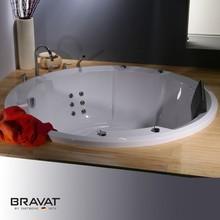 Built in whirlpool massage bathtub elegant design for project B25615W