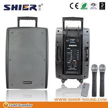 Portable plastic megaphone loudspeaker
