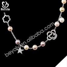 2015 new design pendent wholesale silver necklace plain chain