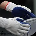 srsafety 10g reciclar polycotton laminado de goma de látex de la construcción de seguridad guantes