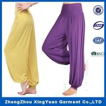 Hot Sale New 2014 Brand Casual Women Pants Solid Color Elastic Waist Comfy Full Length Chiffon Harem pants