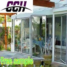 House Design Aluminum Bi Folding door, Aluminum Alloy Double Tempered Glazing folding door