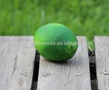 artificial decoartive fruit green lemon 10 cm high quality fecoration