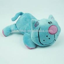 cartoon toys custom cute popular soft Happy blue cat plush toys
