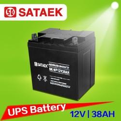 Battery supplier 12v 38ah Sealed lead acid battery price
