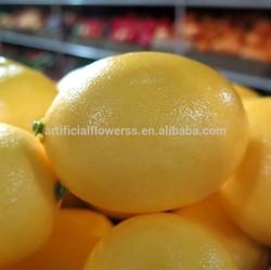 artificial foam fruits plastic lemon fruit for decoration