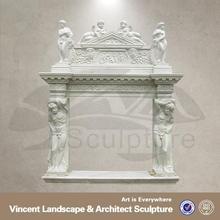 2015 modern home decoration stone fireplace mantel surrounds designs