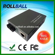 Hot selling 10/100M RJ45 port 12v dc media converter