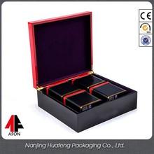 Custom luxury wooden presentation packing tea box