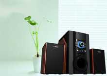 New models high quality wooden multimedia 2.1 Computer speaker system with USB SD FM Remote and MIC control Erin