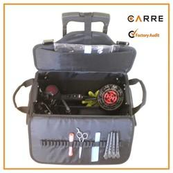 professtional hairdresser tool hair beauty school kit soft rolling nylon hairdressing trolley bag