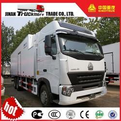 China HOWO A7 6x4 Cooling Van Truck
