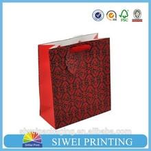 2015 custom decorative mini food grade varnishing glossy valentine day paper bag