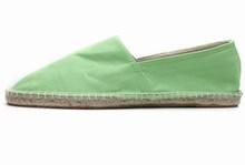European candy color linen base absorbent lazy canvas manual line flat shoes buckle cloth shoes