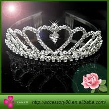Wedding Bridal Bridesmaid Flower Girls Love Crystal Tiara Headband