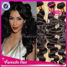 hair salon dropship body wave human hair weft no tangle peruvian body wave hair