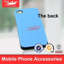 New Style Flip Stand PU Case for iPhone 6 Plus 5.5 inch sky blue color leather smartphone case
