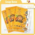 حساء قاعدة مع المواد الغذائية الطبيعية والموارد المنكهات الطبيعية