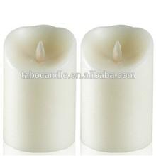 Ivory Resin Battery Operated Flameless luminara LED Candle