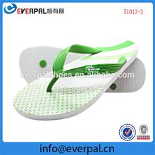 customized white flip flops