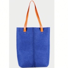 hot sale Eco-friendly drawsting Promotion Gift Felt Shopping Bag Royal Blue