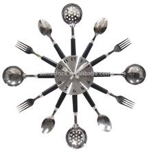 2015 New Design Metal Dial DIY Kitchen Clock Black Handles