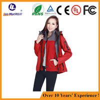 Biker studded leather women outdoor electric jacket