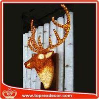 Christmas handmade deer head for wall decoration
