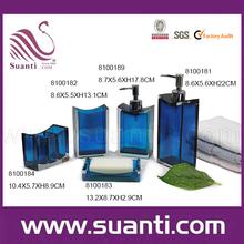 Wholesale transparent european blue/red resin bathroom accessory