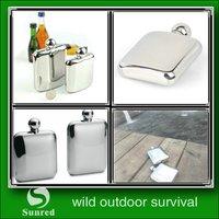 popular outdoor 8oz mini type stainless steel hip flask