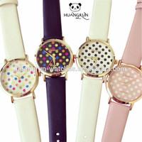 Elegance fashion women dress quartz xxcom bracelet leather watch strap