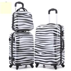 Fashion Zebra Stripe Three Piece PC Luggage Set , 3pcs Suitcase Set
