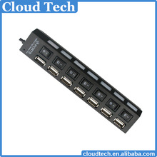 usb hub driver 7 ports with led light and power switch