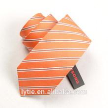Latest fashion handmade wholesale dark blue stripe necktie