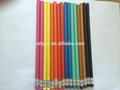 Hb lápiz de plástico con goma de borrar, colorido
