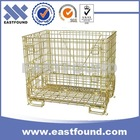 Euro Welded Galvanized Collapsible Used Storage Metal Foldable Bin