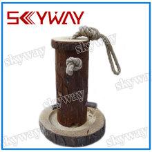 Wooden balancing bird toy