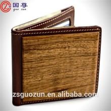 New design slim wallets for men / cool wooden wallet