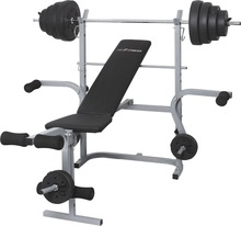 weight plate bar weight lifting bench