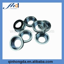 Turning steel spare parts of motorcycle with blue zinc plated