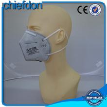 N95 fold flat butterfly shape face mask with earloops belt buckle