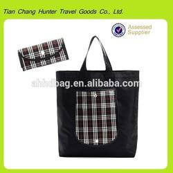 Reusable Folding And Handled Style Cheap Nylon Foldable Shopping Bag