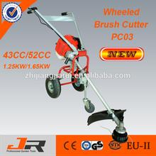 New design 52cc wheeled brush cutter/wheeled grass trimme r